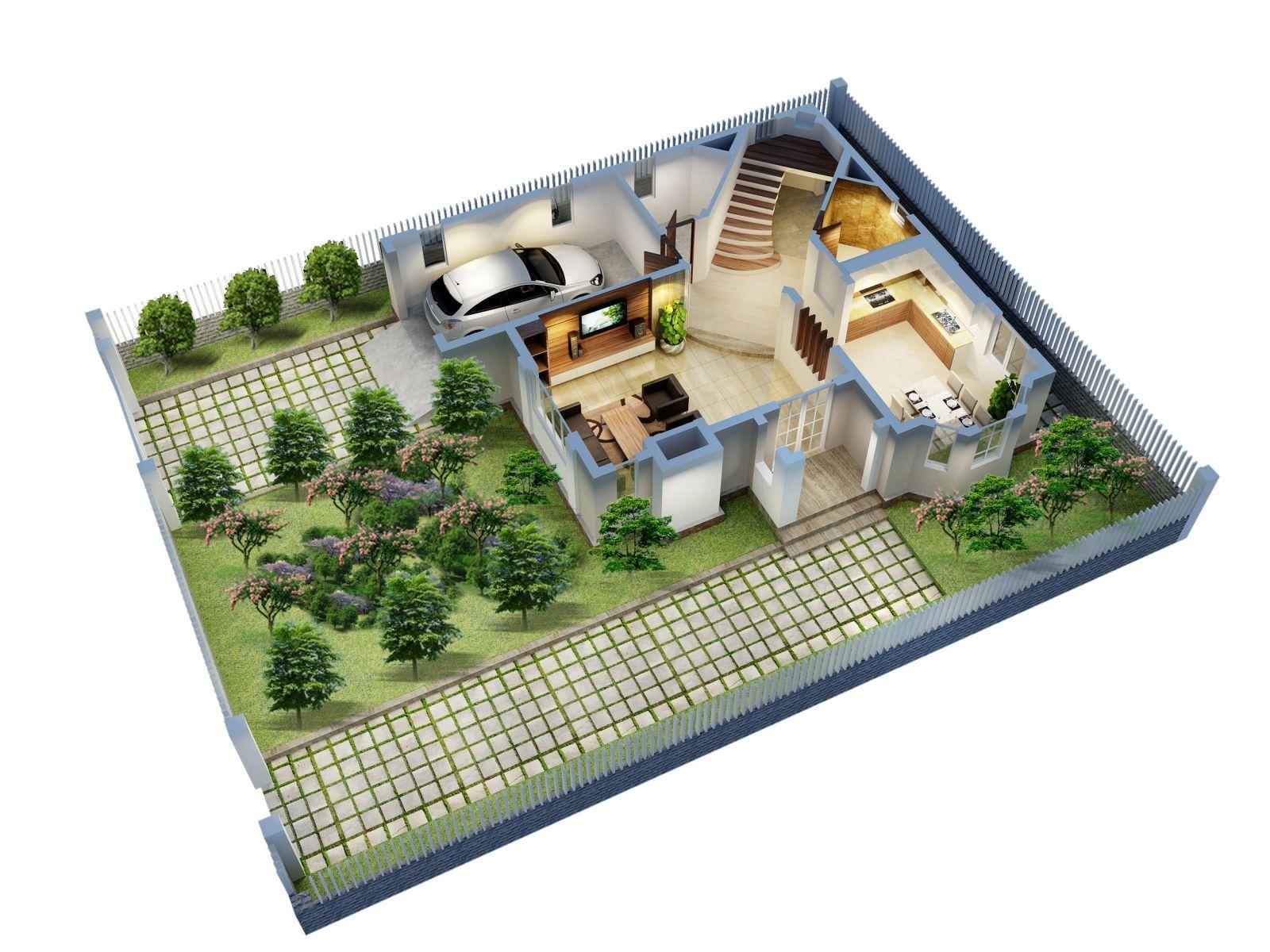 Cần xác định vị trí ngôi nhà trong tổng mặt bằng