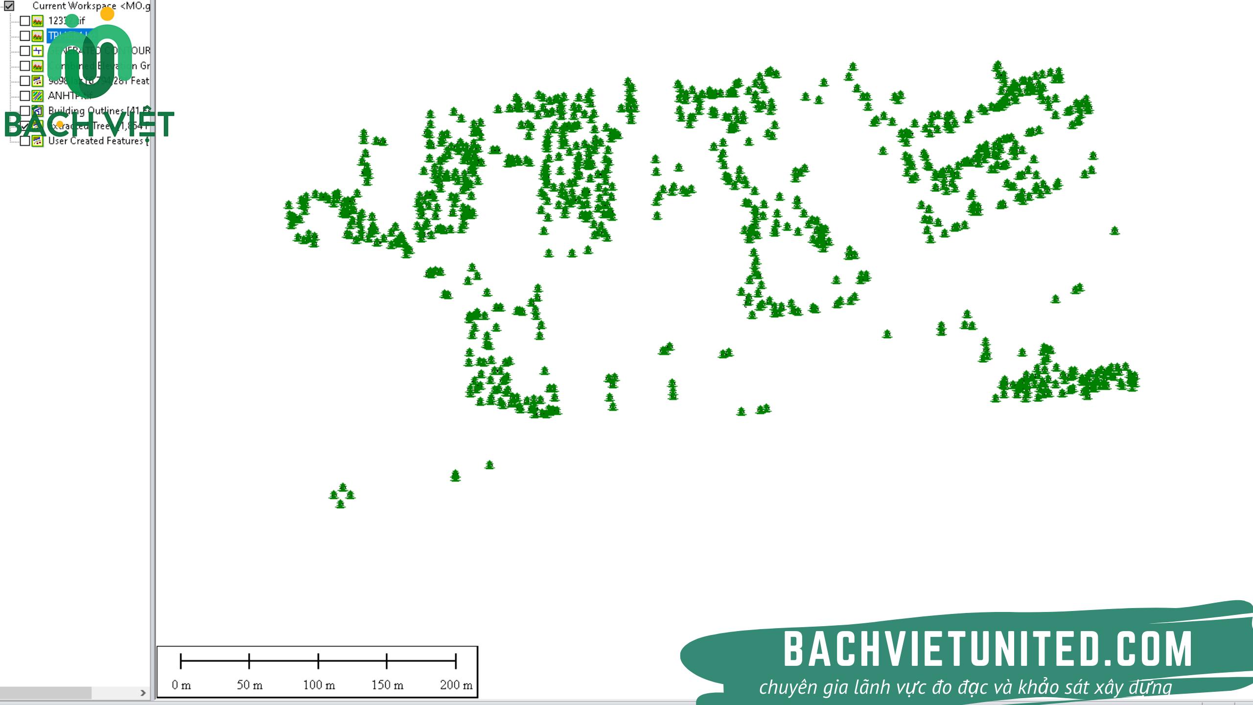 Bóc tách cây xanh tự động bằng flycam