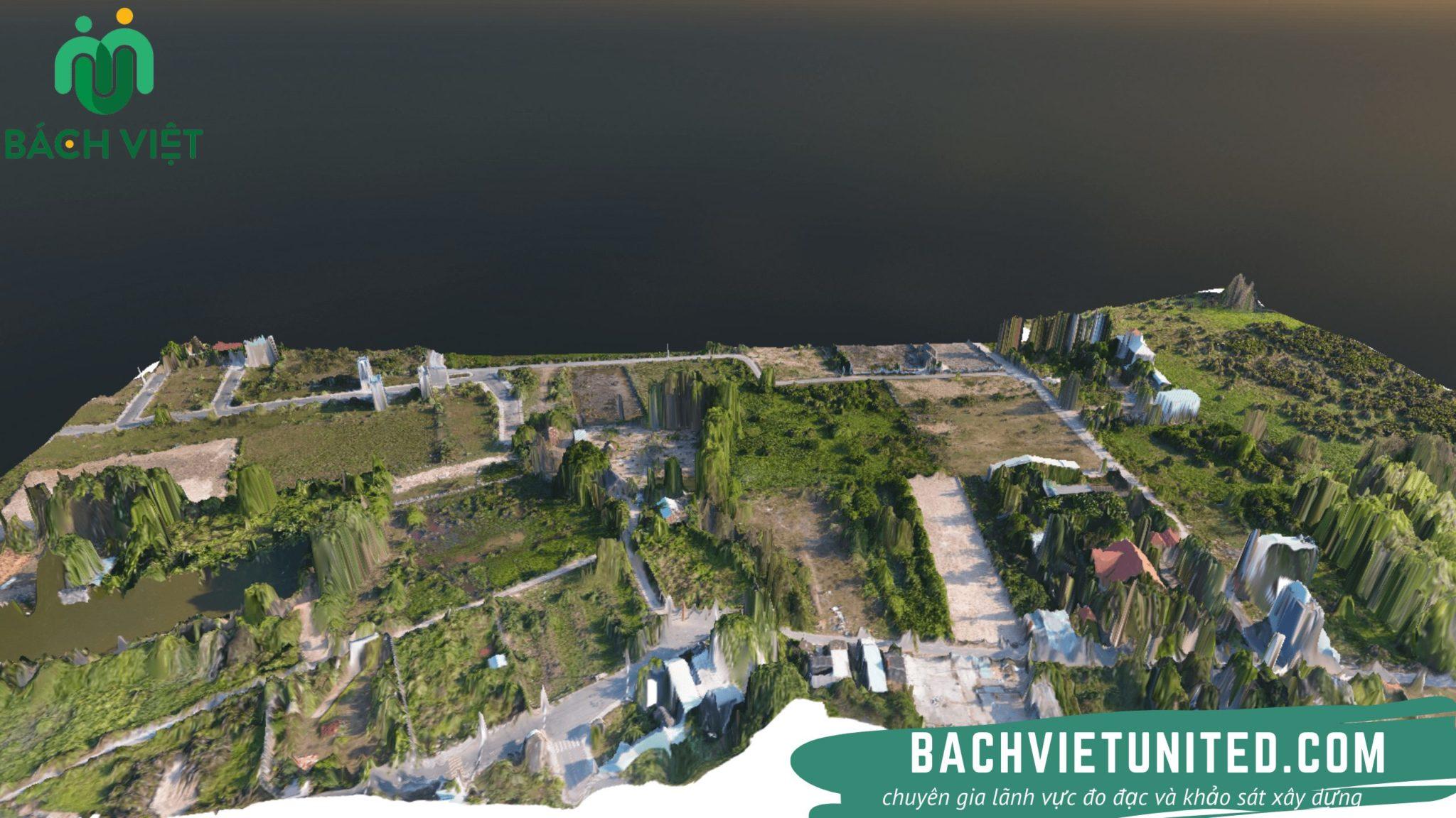 Khảo sát địa hình bằng Flycam thành lập mô hình 3D
