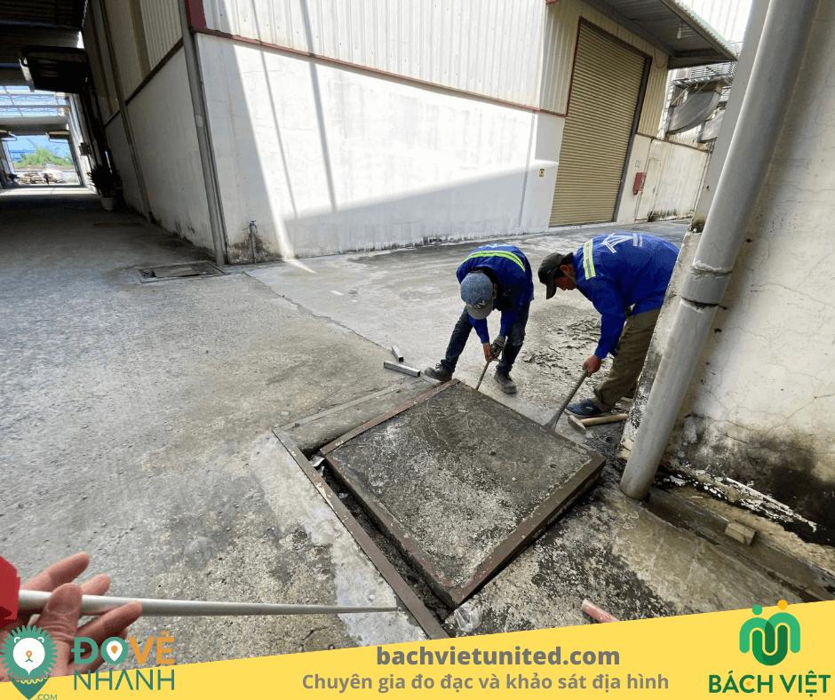 Đo đạc hiện trạng hệ thống thoát nước Nhà máy Tân Phú Minh