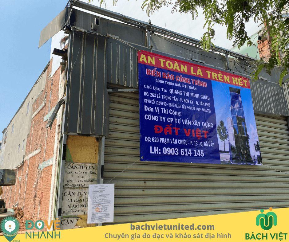 Quan trắc lún công trình nhà ở 7 tầng Tân Phú