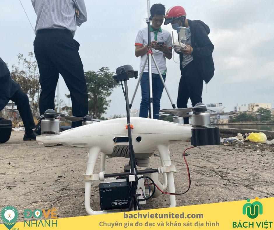 Bay chụp flycam PPK thành lập bình đồ tuyến 1/1000 quận 7