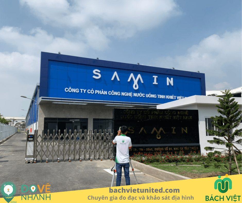 Đo đạc hoàn công nhà máy sản xuất nước sạch SAMIN quận 7
