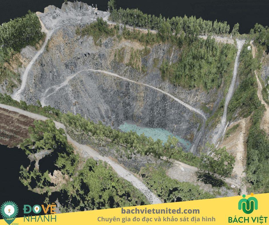 Khảo sát địa hình và tính toán trữ lượng mỏ đá Tân Uyên