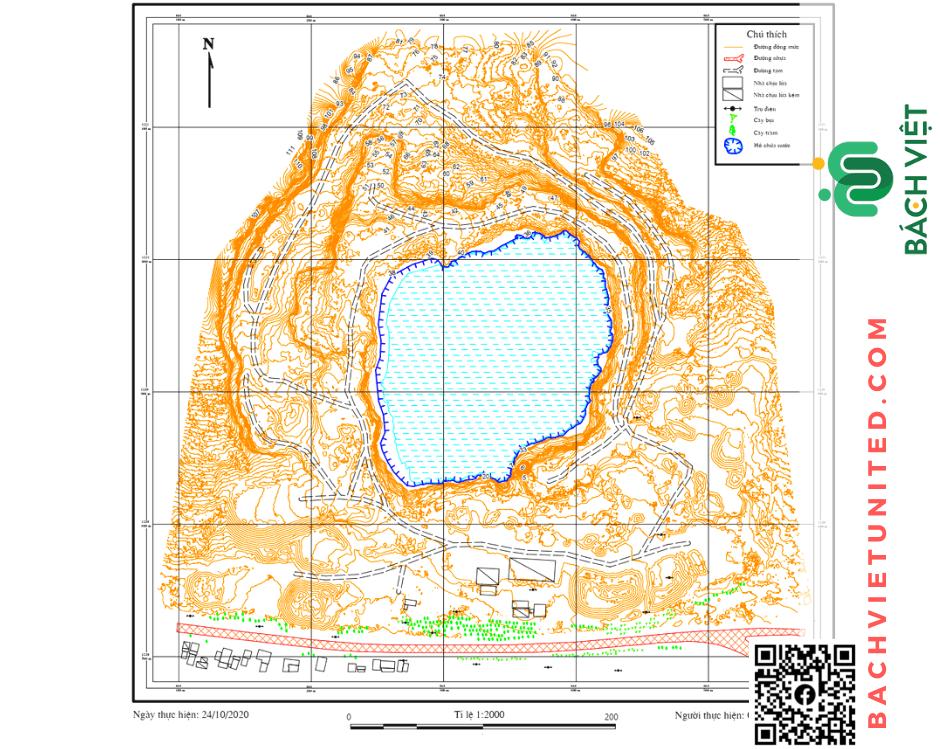 Hình 4. Bản đồ hiện trạng mỏ