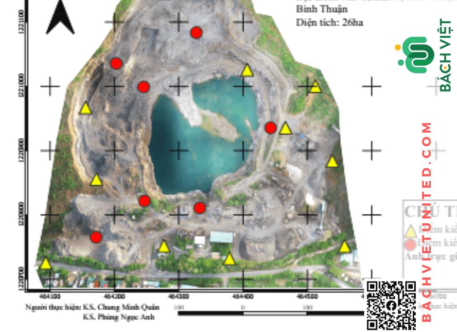 Hình 2 Bình đồ ảnh hiện trạng toàn khu vực mỏ Tà Zôn 2