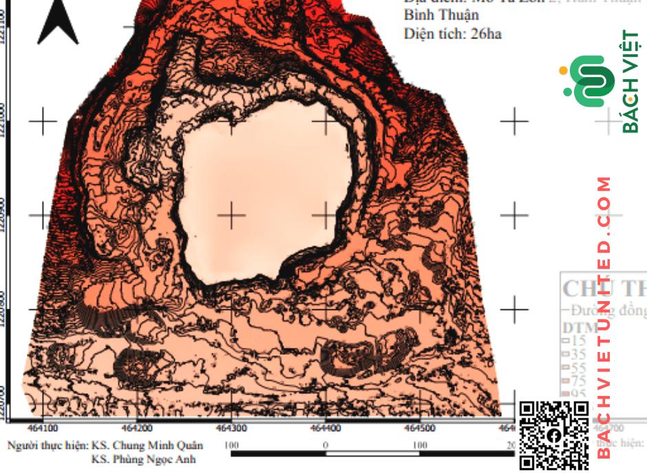 Hình 3 Sơ đồ địa hình khu vực mỏ Tà Zôn 2