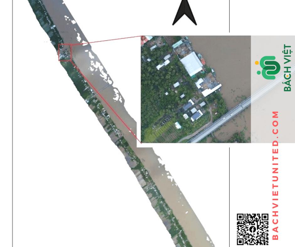 Lập ảnh hiện trạng bằng UAV sông Cái Bé Cái Lớn