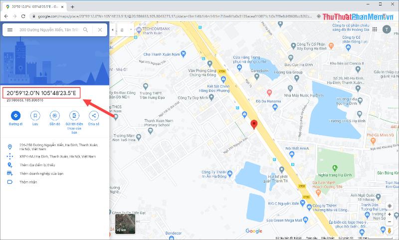 Cách xác định tọa độ gps trên google map trên máy tính được sử dụng phổ biến