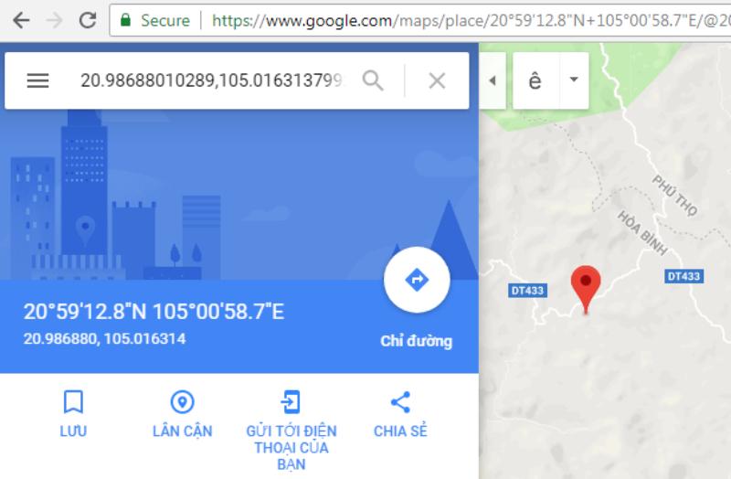 Nhập tìm vị trí trên Google Map nhanh chóng, dễ dàng