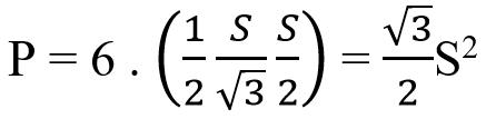 Công thức tính diện tích lục giác đều